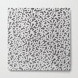 By the numbers Metal Print