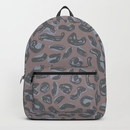 pattern Gray silver leopard panther fur design, abstract simple lines scandinavian style grunge text Backpack