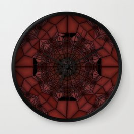 Persian Plum Wine and Chocolate Cherries Stained Glass Wall Clock