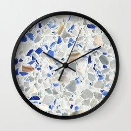Blue Terrazzo Wall Clock