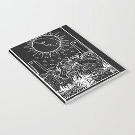 The Sun and Moon Tarot Cards   Obsidian & Pearl Notebook