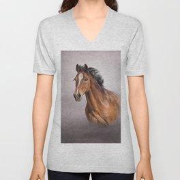Drawing portrait  horse Unisex V-Neck