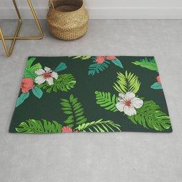 Hawaiian Vintage Tropical Flowers Rug