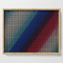 Rainbow Knitting Serving Tray