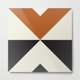 Split X Rust Metal Print