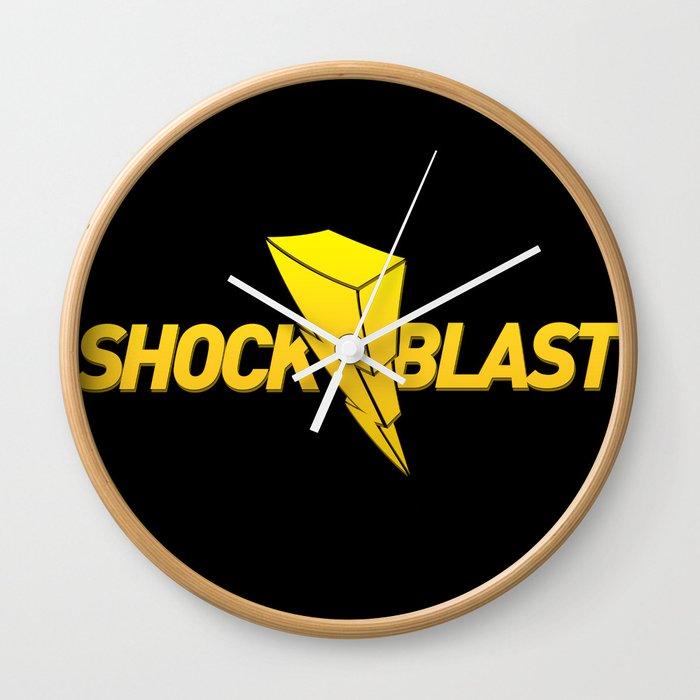 ShockBlast Original Flash Logo Wall Clock