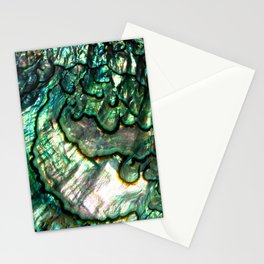 Shimmering Green Abalone Mother of Pearl Stationery Cards