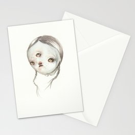 Pigtail Hair Stationery Cards