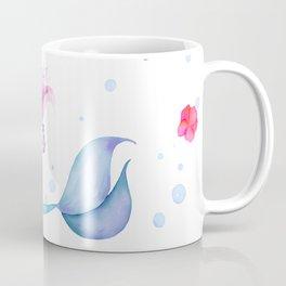 Pink and Purple Mermaid Watercolor Coffee Mug