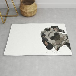 Great Dane dog in your face Rug