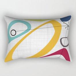 Mid Century Modern Art Rectangular Pillow