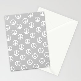 Peace (White & Gray Pattern) Stationery Cards