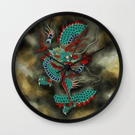 Dragon in the Cloud Type E: Minhwa-Korean traditional/folk art Wall Clock