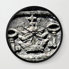 Ancient Church Carvings Wall Clock