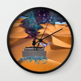 Behind The Veil Wall Clock
