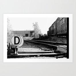 D.rail Art Print