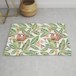 Happy Sloth – Tropical Green Rainforest Rug