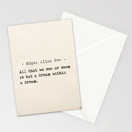 Edgar Allan Poe quote Stationery Cards