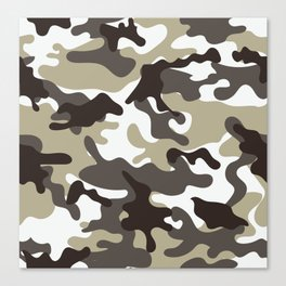 Urban Camo Camouflage Pattern Canvas Print