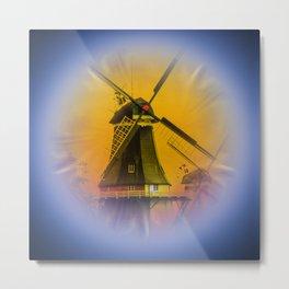 Sailing Romance - Windmills Metal Print
