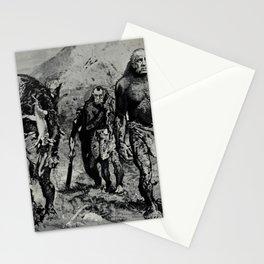 Vintage Poster - Richard Nixon, Spiro Agnew, and J. Edgar Hoover as prehistoric men (1971) Stationery Cards