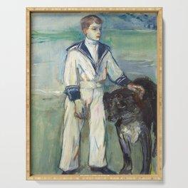 """Henri de Toulouse-Lautrec """"L'Enfant au chien, fils de Madame Marthe et la chienne Pamela-Taussat"""" Serving Tray"""