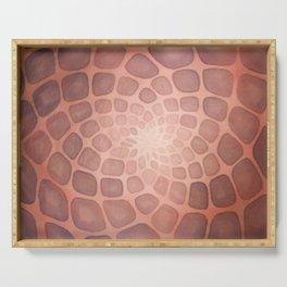 Purple Mandala Chakra Sacred Geometry Tapestry (Crown Chakra) Serving Tray