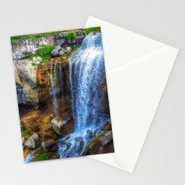 USA Paulina Falls Oregon HDRI Nature Waterfalls Stones HDR stone Stationery Cards