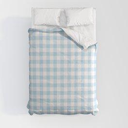 Gingham Light Blue - White Comforters