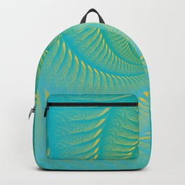 The Eye of the Tropical Storm | Turquoise Twist Geometric Spiral Artwork Backpack