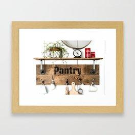 Pantry Shelf Framed Art Print