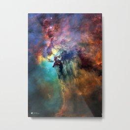 Hubble Telescope: Lagoon Nebula (2018) Metal Print