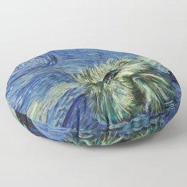 Starry Monterey Night (for Mikaela) Floor Pillow