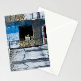 Nago, Okinawa, Japan Colorfully Painted, Urban Home in Small Village of Sukuta Panorama Stationery Cards