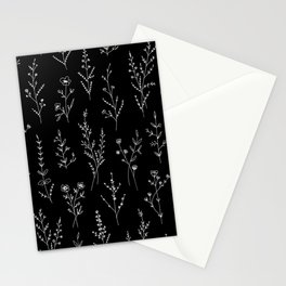 New Black Wildflowers Stationery Cards