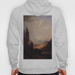 The Matterhorn By Albert Bierstadt | Reproduction Painting Hoody