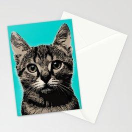 Cat. Pop art cat Stationery Cards