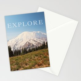 explore the mountains Stationery Cards