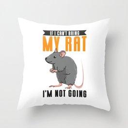 Pet Rats Rat Rotten Mice Mous Rex Rats Hairless  Throw Pillow