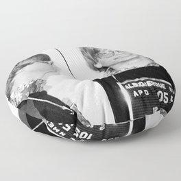 Bill Gates Mugshot 1977 Black & White Floor Pillow