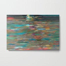 Ocean Currents at Twilight by Hubertine Heijermans Metal Print