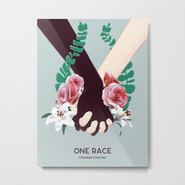 One Race Metal Print