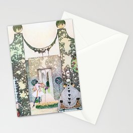 Kay Nielsen - Cupid With Prince Mirrawlow And Court Ladies Who Are Playing In The Garden Stationery Cards