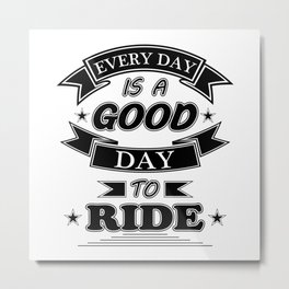 Motorcycle Biker Vintage Bike Classic Funny Gift Metal Print