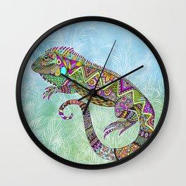 Electric Iguana Wall Clock