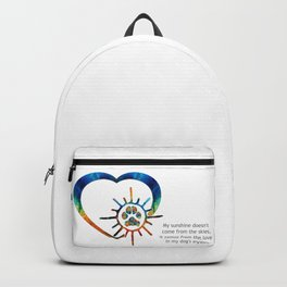 Colorful Dog Paw Art - Dog Lover - Sharon Cummings Backpack