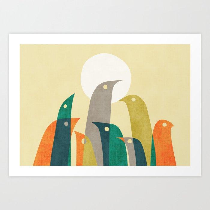 Wild birds at the beach Art Print