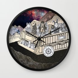 Animals on a Wagon Wall Clock