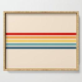 Takaakira - Classic Rainbow Retro Stripes Serving Tray