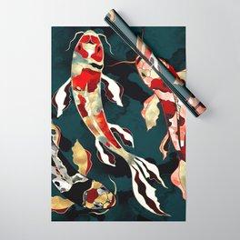 Metallic Koi Wrapping Paper